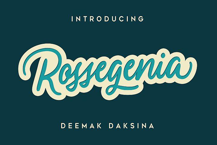 Ressogenia - Cursive Script Font
