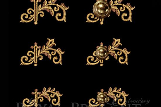 Baroque buttonholes Embroidery Designs
