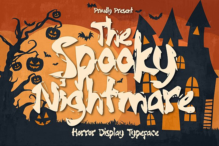 Spooky Nightmare - Horror Display Typeface