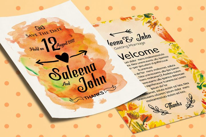 Double Sided Save The Date Card