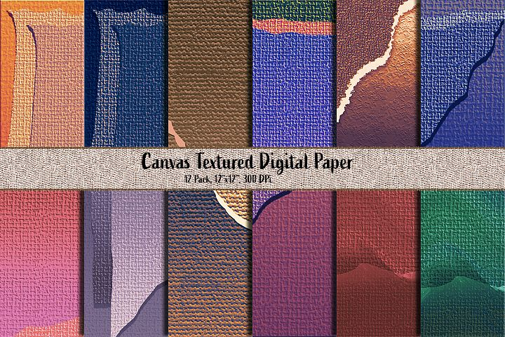 Canvas Textured Digital paper pack - Burlap paper