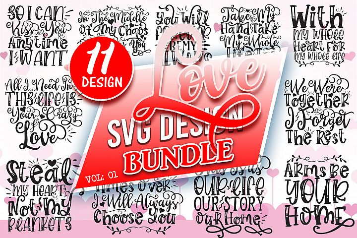Love SVG Design Bundle Vol 1