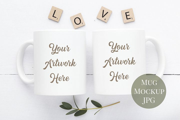 Double Mug Mockup in Neutral Colours