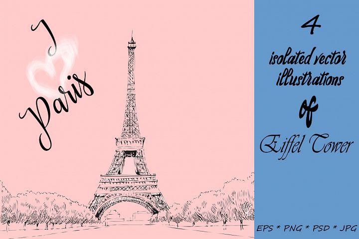 I love Paris. Vector