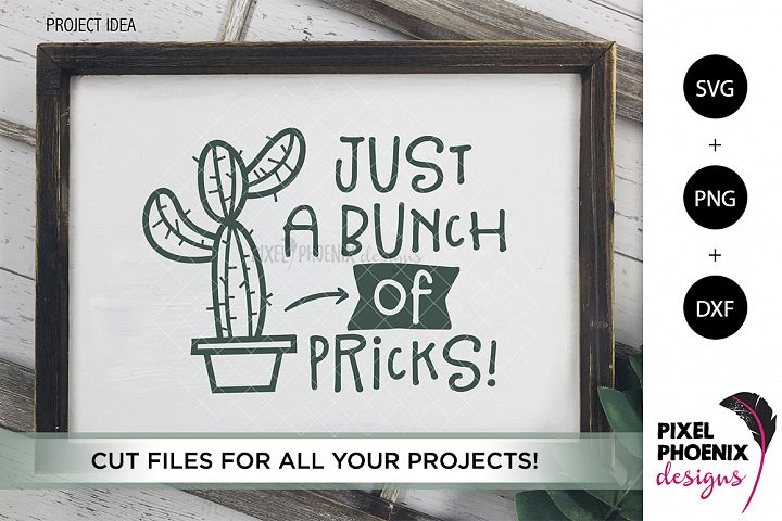Just a bunch of pricks - Cactus SVG