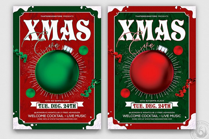 Christmas Eve Flyer Template V9