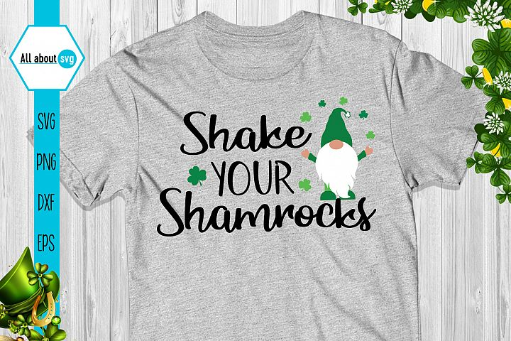 Shake Your Shamrocks Gnome Svg