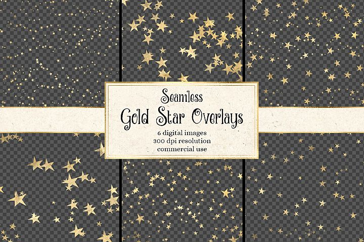 Seamless Gold Star Overlays