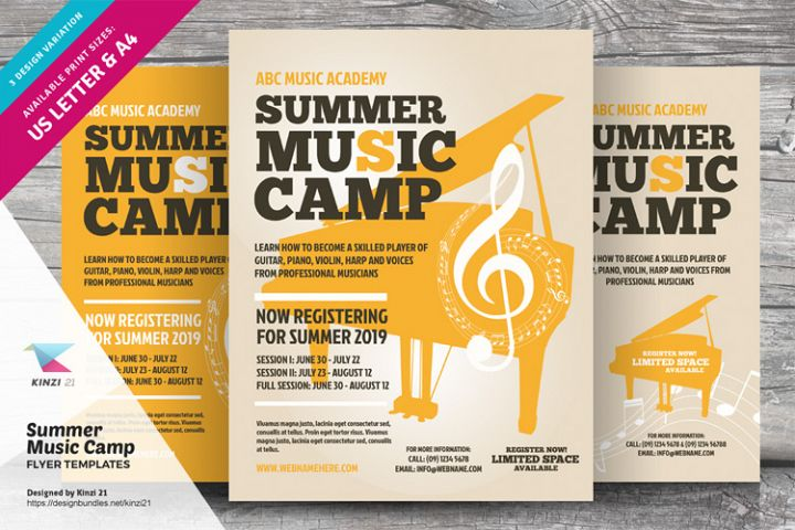 Summer Music Camp Flyer Templates