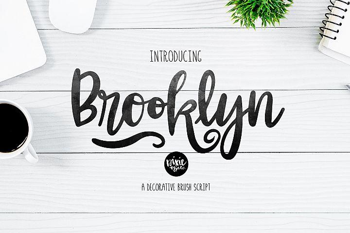 BROOKLYN Brush Script .OTF Font