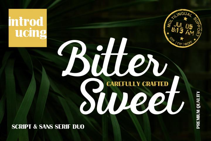 Bittersweet Script & Sans Serif DUO