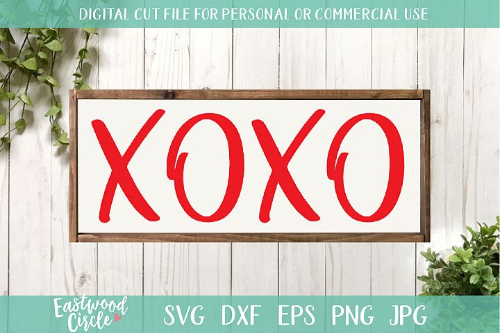 XOXO Hugs and Kisses - A Valentines SVG Cut File