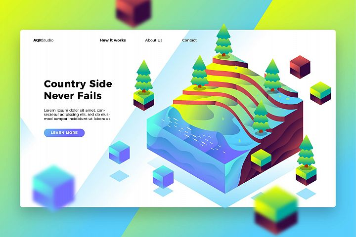 Countryside - Banner & Landing Page