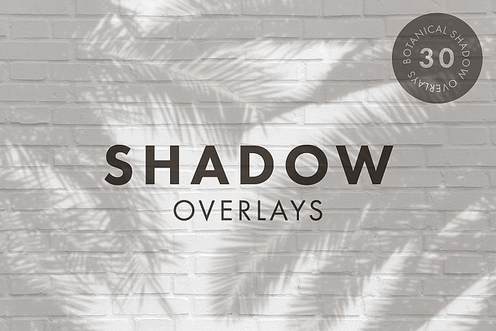 30 Botanical Shadow Overlays