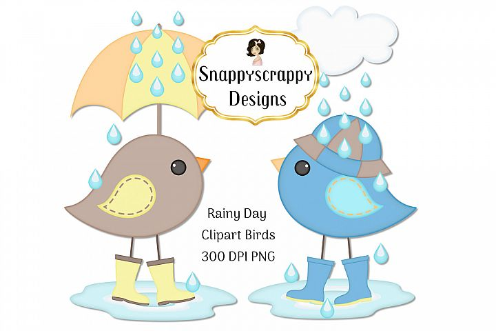 Rainy Day Bird Clipart