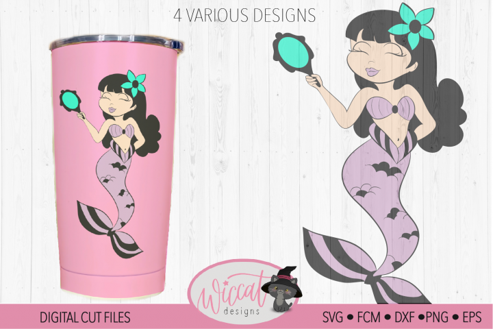Mermaid with mirror tumbler design
