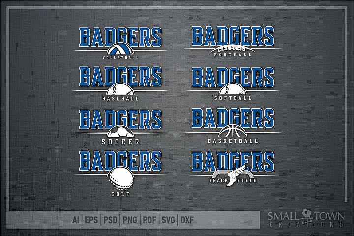 Badger Sport Bundle, Logo, Team Mascot, PRINT, CUT & DESIGN