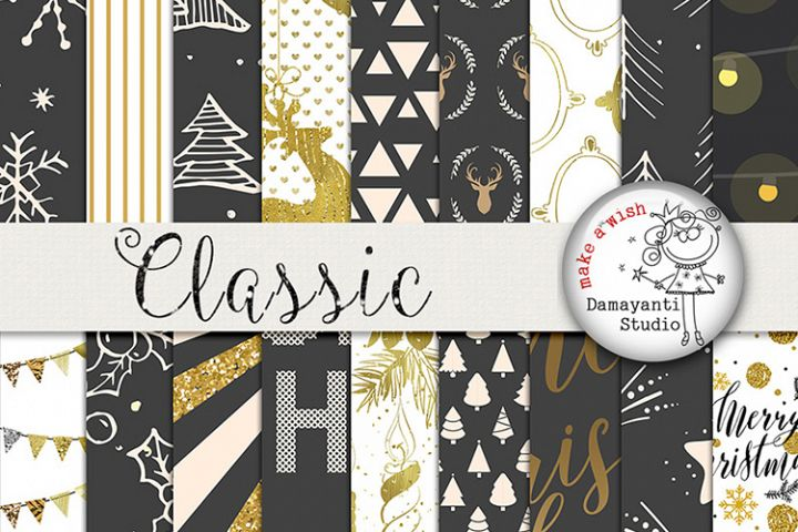 New Years and Crhistmas digital papers