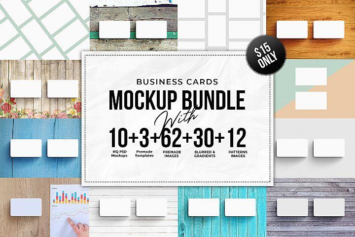 Business Card MockUps Bundle + Bonus