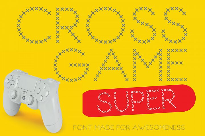 Cross Game Fun Font for Projects