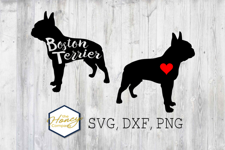 Boston Terrier SVG PNG DXF Dog Breed Lover Cut File Clipart