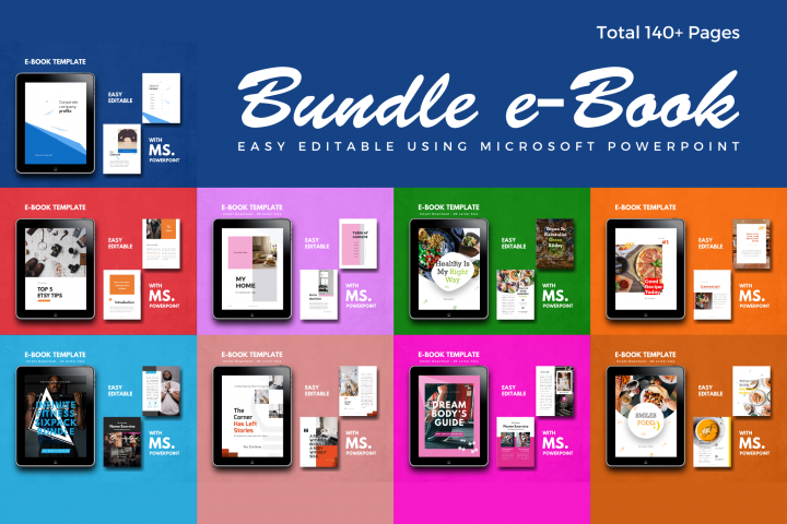 eBook Bundle Template Editable Using Ms PowerPoint
