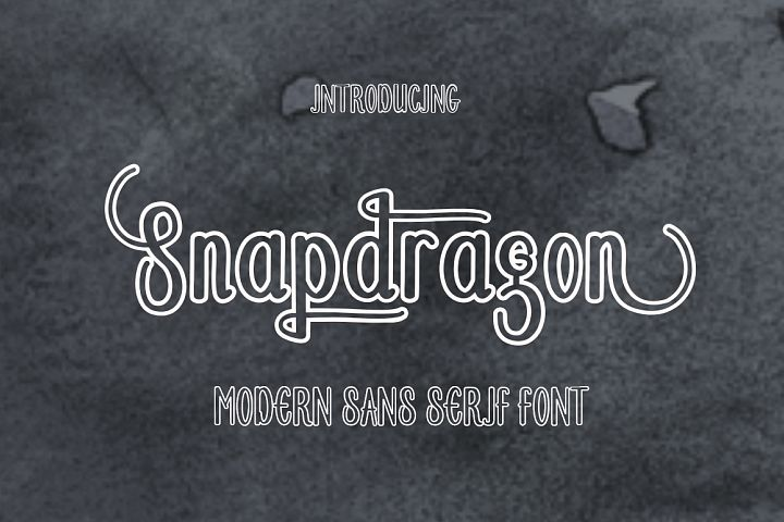 Snapdragon - Free Font of The Week