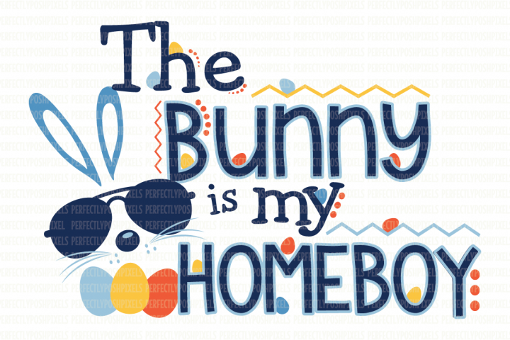 The Bunny Is My Homeboy SVG File example
