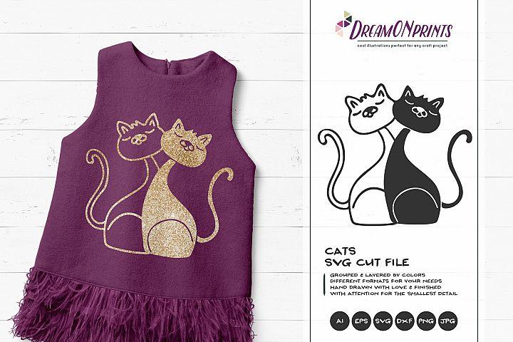Cats SVG - Kitty SVG Cut Files, Kittens Illustration