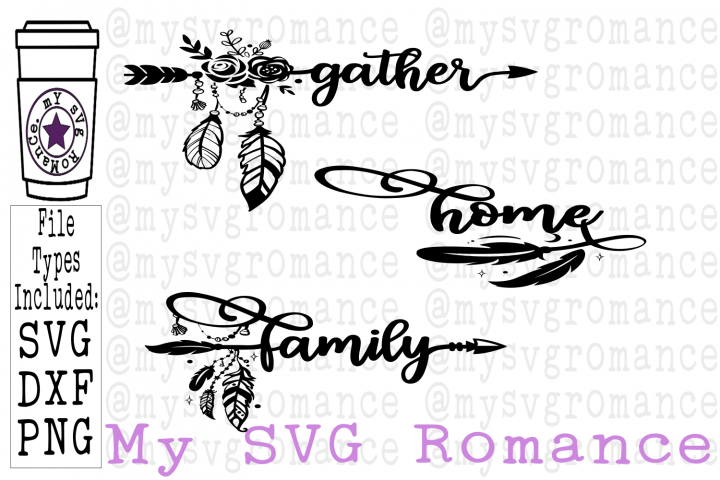 Gather - Family - Home - Boho Arrow SVG Set