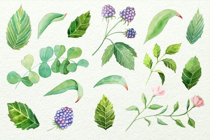 Watercolor Floral DIY Set - Free Design of The Week Design 3