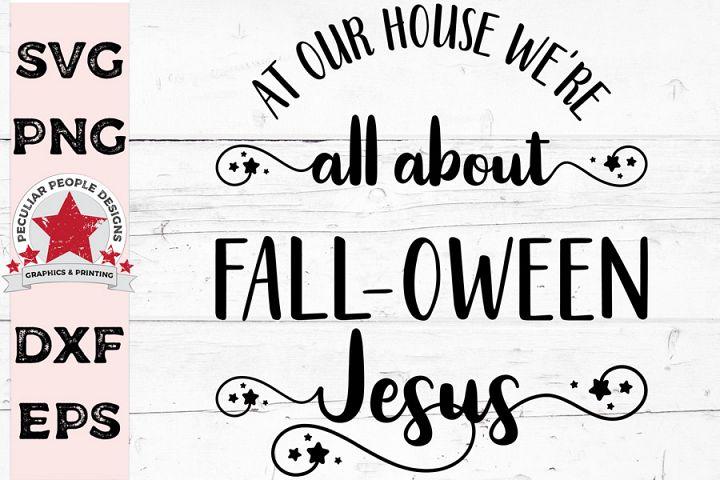All About FALLOWEEN Jesus, cute Hallowen SVG cut file