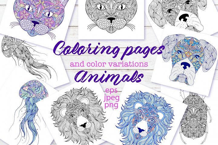 Animals.Coloring pages.