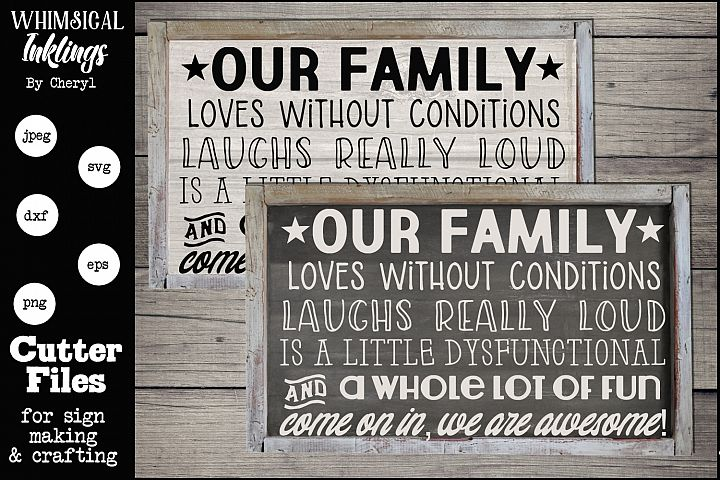 Our Family Is Awesome SVG