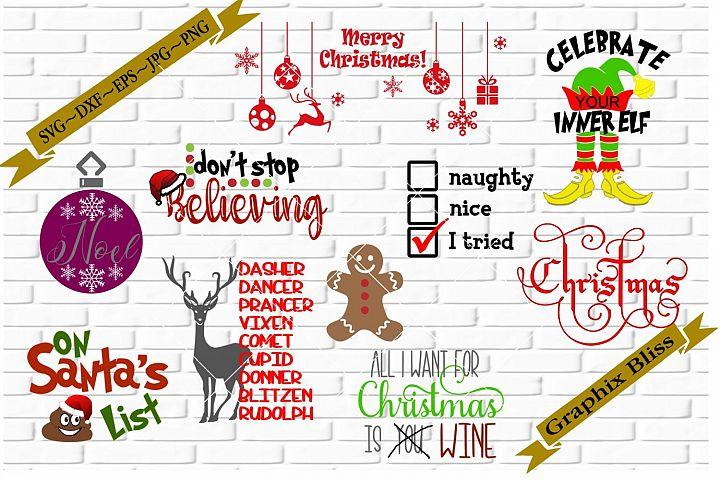 Christmas Theme Bundle 4 SVG DXF EPS PNG