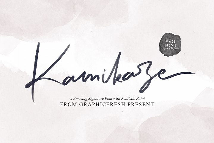 Kamikaze SVG Font