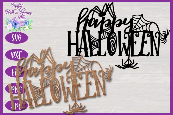Halloween SVG | Happy Halloween SVG | Halloween Spiders SVG