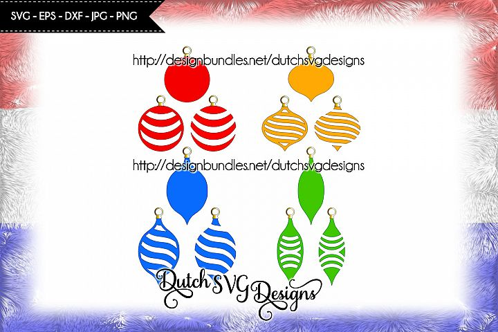 12 Christmas ornaments cutting files, christmas svg
