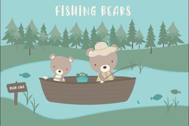 Fishing bears set