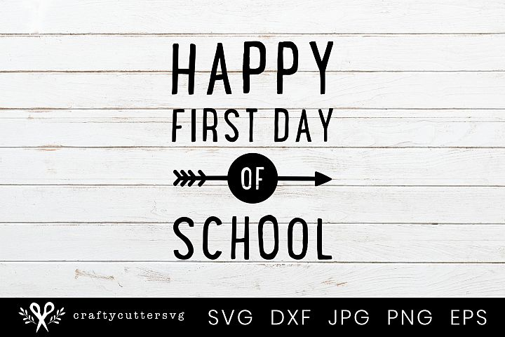 Happy First Day of School Svg Arrow Clipart