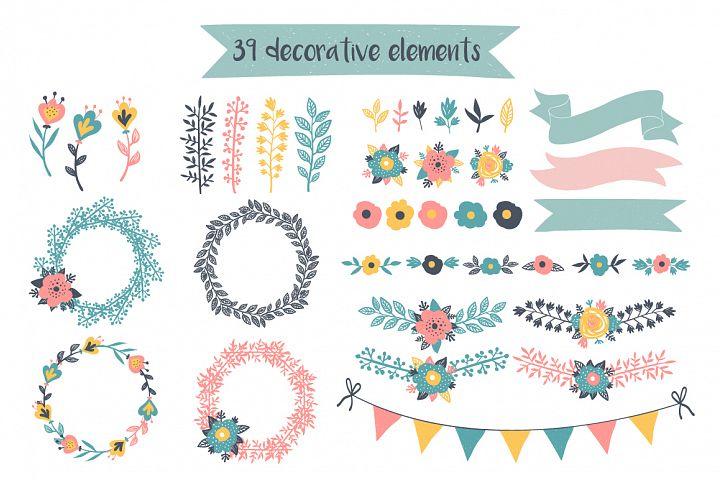 Decorative Foral Elements