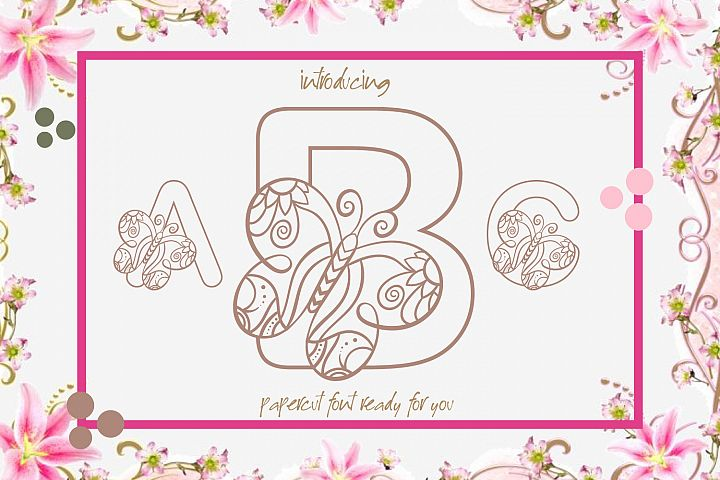 Butterfly Alphabet A Cute Papercut Style Colouring Book Font