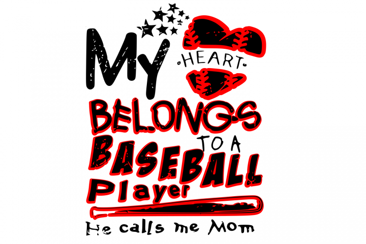 My heart Baseball SVG Cutting File