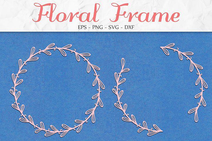 Floral Wreath svg, Monogram Frame svg, Floral Swag svg