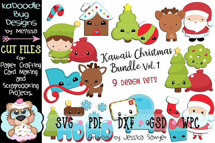 Christmas Bundle Set Vol.1 - 9 Cut File Designs - 20 Pieces