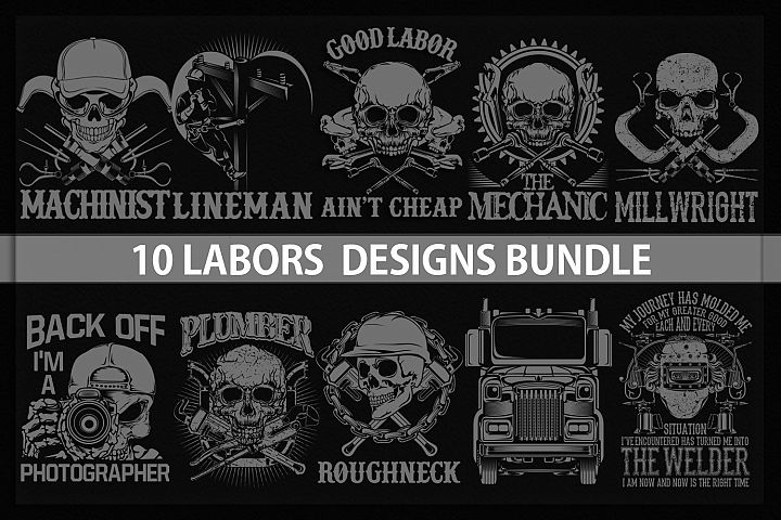 10 labor designs bundle