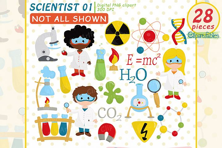 Scientist Kids clipart, Cute science Kids, Science Clip art