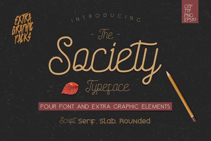 Society Typeface - 4th Font!