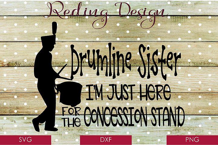 Drumline Sister - Band SVG DXF PNG