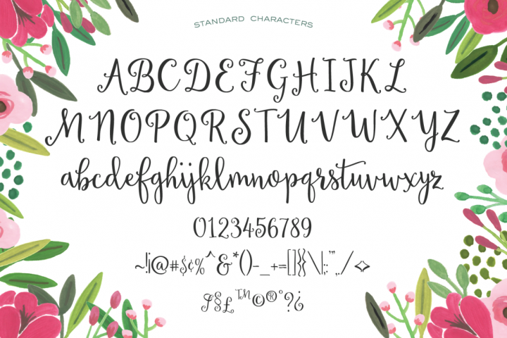 Sweet Peony Hand Lettered Script example image 2